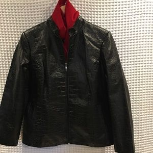 Preston & York crocodile leather jacket. Size PM